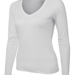 JB's Ladies L/S V-Neck Slinky Tee Black 8 Thumbnail