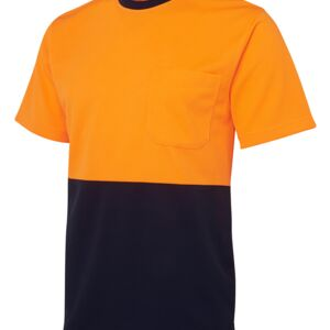 JB's Hi Vis Traditional T-Shirt Lime/Navy XS Thumbnail