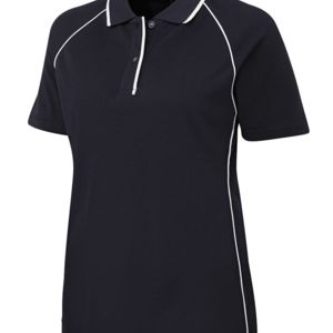 JB's Ladies Raglan Polo Navy/White 8 Thumbnail