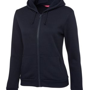 JB's Ladies P/C Full Zip Hoodie Black 8 Thumbnail