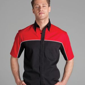 Podium Moto Shirt Black/Red/White S Thumbnail