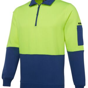 JB's Hi Vis 1/2 Zip Fleecy Lime/Black S Thumbnail