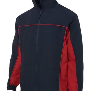 Podium Contrast Warm Up Jacket Black/Dk Red S Thumbnail
