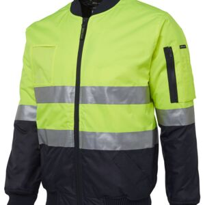 JB's Hi Vis (D+N) Flying Jacket Lime/Navy S Thumbnail