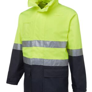 JB's Hi Vis (D+N) Long Line Jacket Lime/Black S Thumbnail