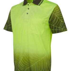 JB's Hi Vis S/S Web Polo Lime/Black XS Thumbnail