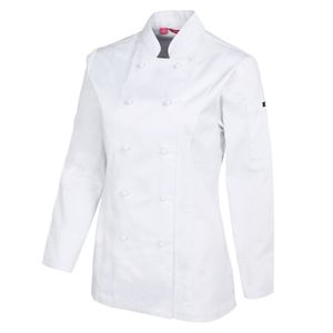 JB's Ladies L/S Vented Chef's White 6 Thumbnail