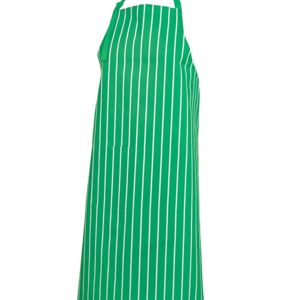 JB's Bib Striped Apron Black/White Thumbnail