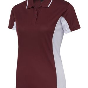 Podium Ladies Contrast Polo Black/Red 8 Thumbnail