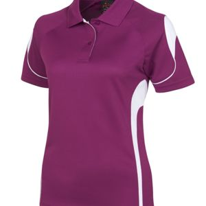 Podium Ladies Bell Polo Black/Red 8 Thumbnail